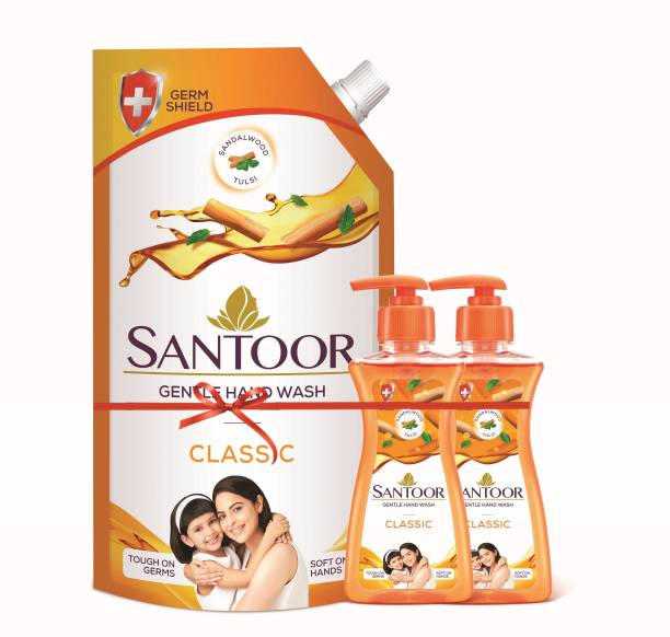 santoor Classic Hand Wash Pump + Refill