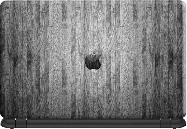 Make Unique Logo In Dark Gray Wooden Theme Laptop Skin Sticker DSFL271 Vinyl Laptop Decal 15.6