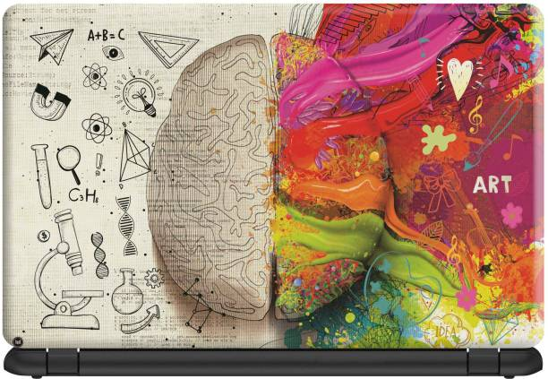 Make Unique Creative Brain Has Two Part of Thinking Laptop Skin Sticker DSFL424 Vinyl Laptop Decal 15.6