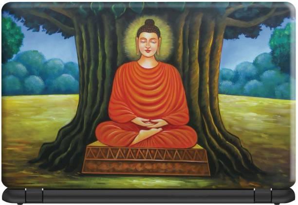Make Unique Lord Buddha Seating Below Tree Laptop Skin Sticker DSFL461 Vinyl Laptop Decal 15.6