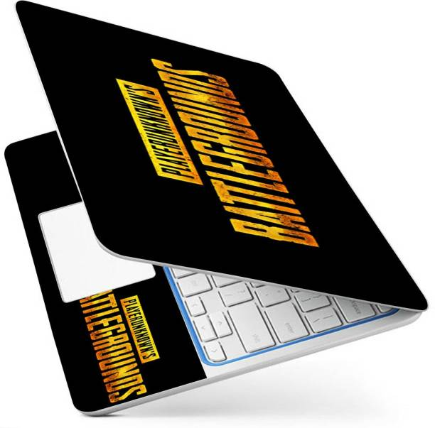POINT ART HQ Laptop Skin Full Panel Decal Sticker Glossy Vinyl Fits Size Bubble Free – pubg logo Vinyl Laptop Decal 15.6