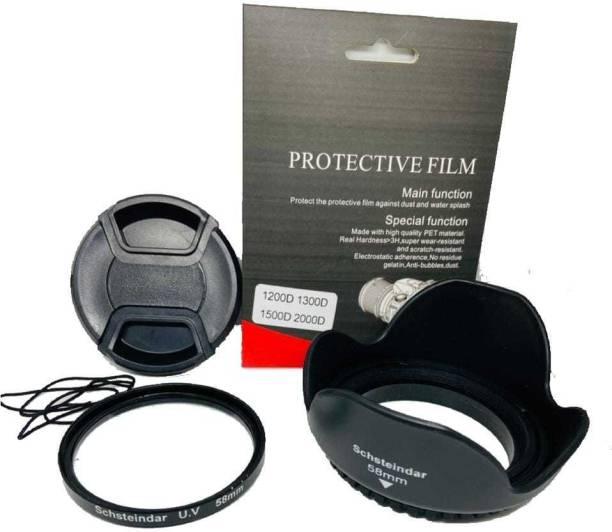Schsteindar COMBO For Canon EOS 1200D,1300D,1500D , 2000D for 18-55MM Lens 55-250MM  Lens Hood