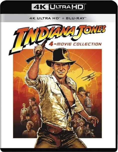 Indiana Jones: 4 Movie Collection (4K UHD + HD + Blu-ray Bonus Dic) (9-Disc Box Set)