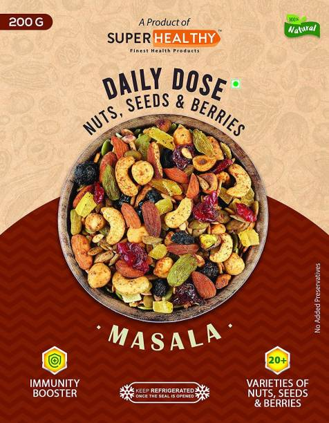 Super Healthy Daily Dose Masala | 20 + Varieties of Nuts, Seeds & Berries | Dietary Food for Immunity Boost and General Wellness (200g) Assorted Seeds & Nuts