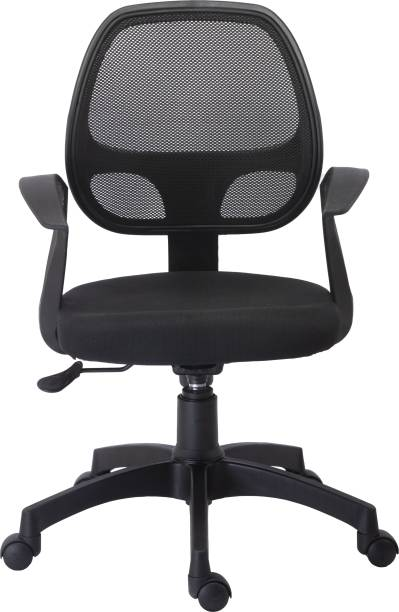 Bluebell TURINE ERGONOMIC MEDIUM BACK OFFICE/REVOLOVING/EXECUTIVE WORKSTATION CHAIR WITH BREATHEABLE MESH BACK (BLACK) Mesh Office Executive Chair