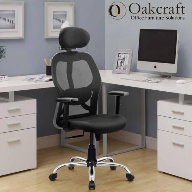 Oakcraft Mesh Office Adjustable Arm Chair