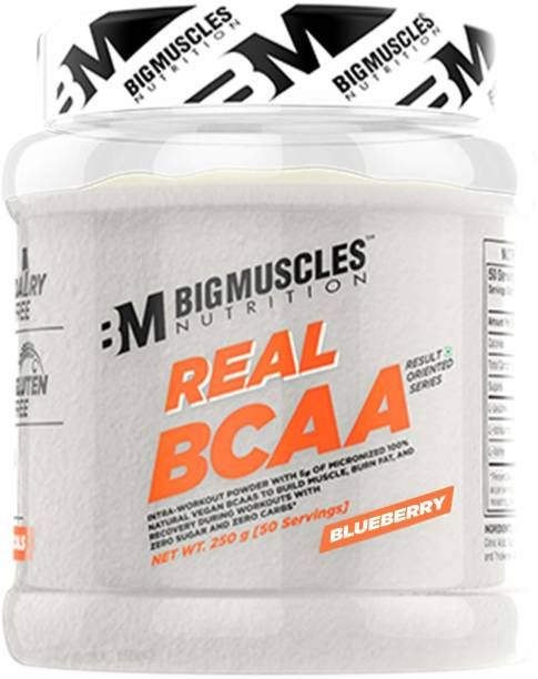 BIGMUSCLES NUTRITION Real BCAA [50 Servings] -100% Micronized Vegan, Muscle Recovery & Endurance BCAA BCAA