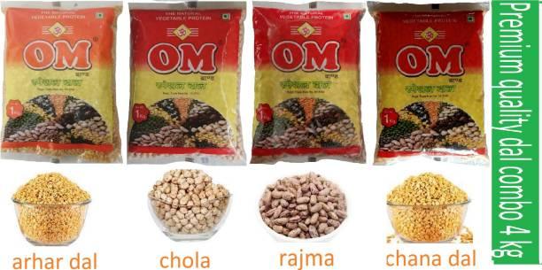 OM Combo (rajma, kabuli chana, arhar dal, chana dal)