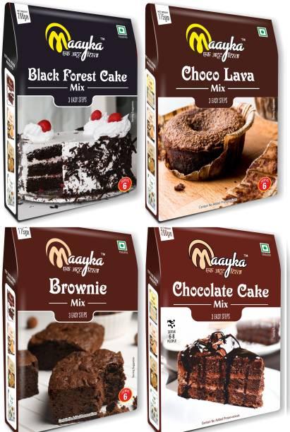 Maayka - Ek Atoot Rishta Maayka Black Forest+Brownie+Choco Lava+Chocolate Cake -750Gm 750 g