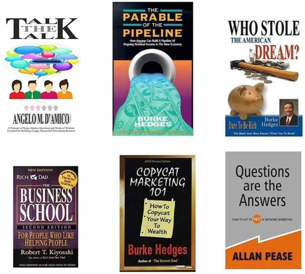 Combo Of 6 Books: Business School , Question Are The Answer, Who Stole The American Dream? , Copycat Marketing 101, The Parable Of The Pipeline, Talk The Talk