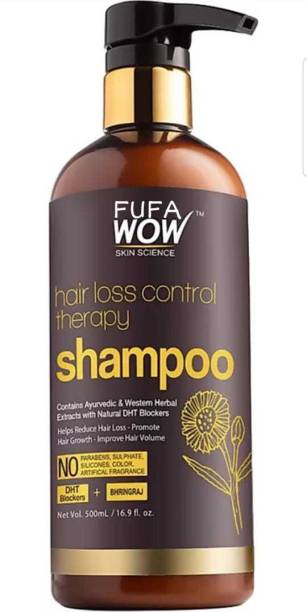 FUFA WOW Skin Science Hair Loss Control Therapy Shampoo Increase Thick & Healthy Hair Growth Contains Ayuvedic & Western Herb (500 ml)