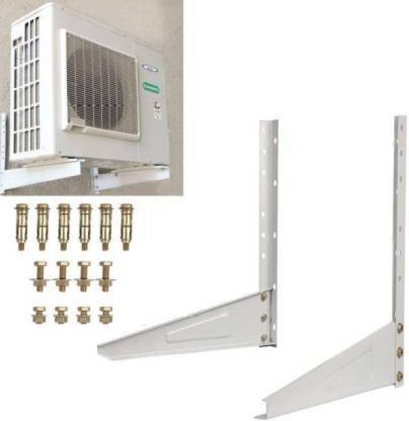 TWONE tafta Heavy Duty Air Conditioner Outdoor Wall Mounting Brackets Ac out door stand for 1 Ton, 1.1 Ton, 1.2 Ton, 1.5 Ton, 2 Ton Outdoor Units (Pack of 1,Silver) 500mm x 160mm Shelf Bracket