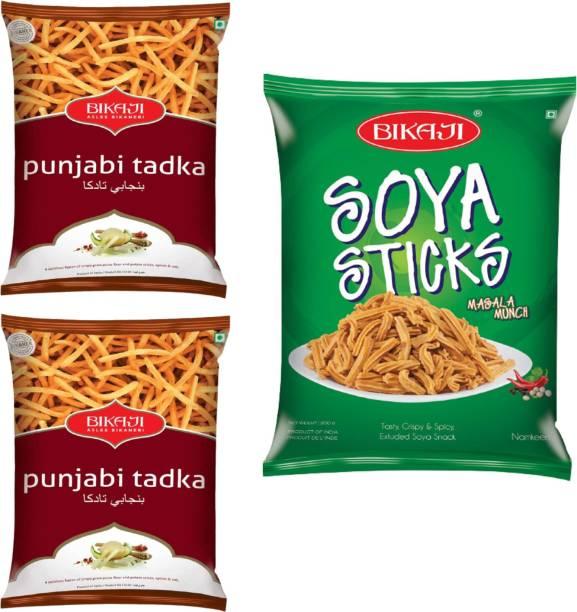 Bikaji Punjabi Tadka Namkeen (200gm) - Soya Stick Chakli (200gm)