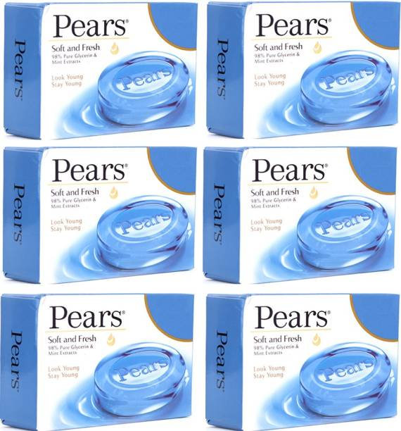 Pears Soft and Fresh Soap 6X100g