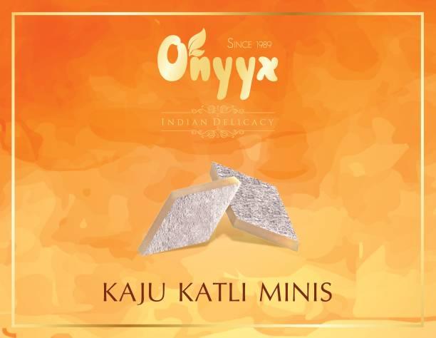 onyyx Kaju Katli Minis- (Kaju Barfi / Burfi, Indian Mithai / Sweets gift pack / box)- 225g Festive Gift Box