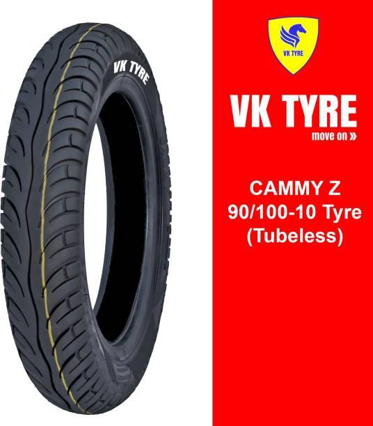 VK TYRE CAMMY Z TUBELESS 90/100-10 Front & Rear Tyre