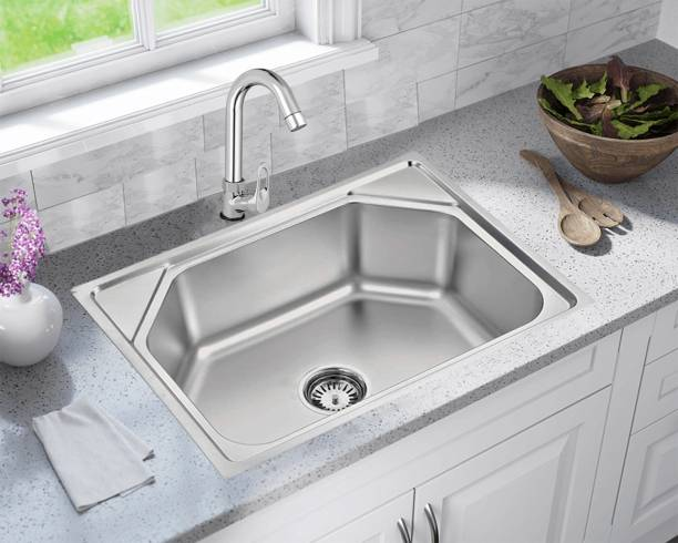 Caisson (24x18x10 inch) Fully Matte Finish Stainless Steel Machine Made Kitchen Vessel Sink