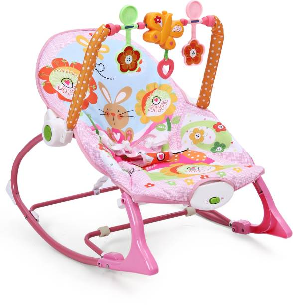 Miss & Chief Premium Quality Infant to Toddler Baby Musical Rocker (Pink) Rocker