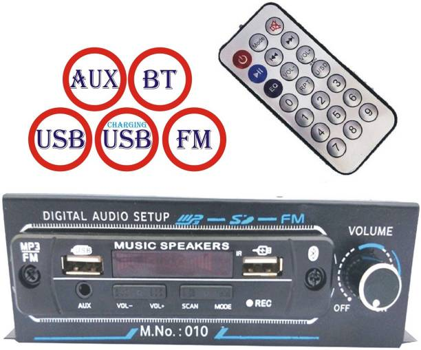 SHOPDAY Music Player BT/AUX/FM/USB FOR MUSIC/USB FOR CHARGING Use in CAR/Bike/Auto/Taxi/Tractor/Battery rickshaw Car Stereo