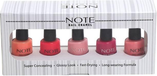NOTE NAIL ENAMEL 5 PCS GIFT SET-3 Red,Brown