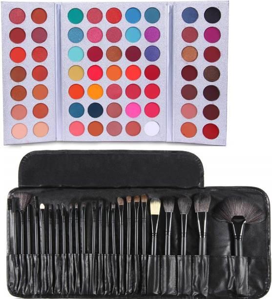 D.B.Z. Gorgeous me Eye Shadow 63 colors eye shadow palette & 24 Pcs MAKEUP BRUSHES