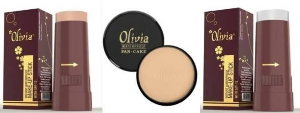 Olivia Make up stick-05,007 & Pancake- 27 Concealer