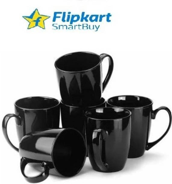 Flipkart SmartBuy Pack of 6 Ceramic Pack of 6 Cup abstract tea/coffee cups met milk/coffee mugs of elegance design
