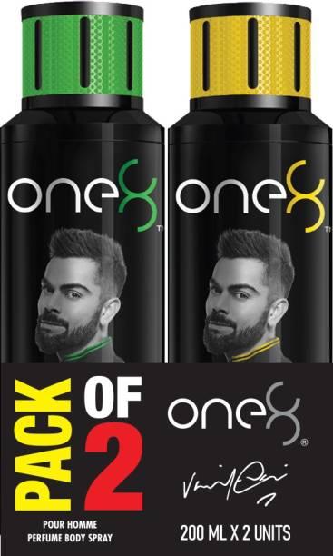 one8 by Virat Kohli Set Of 2 Deos ( Fresh + Pure) Perfume Body Spray  -  For Men