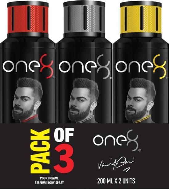 one8 by Virat Kohli Intense + Pure + Active Perfume Body Spray Set-Men Perfume Body Spray  -  For Men