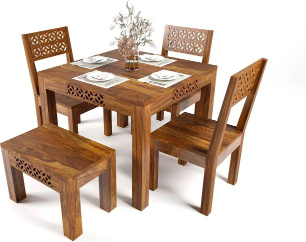 Vailge Sheesham Wood Dining Table Solid Wood 4 Seater Dining Set