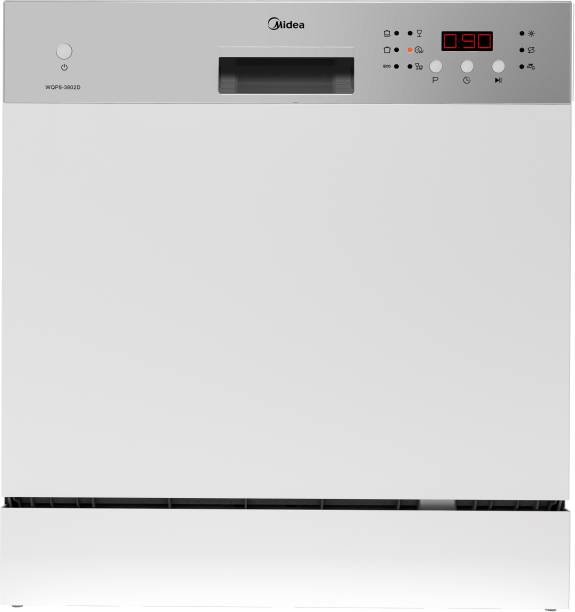 Midea WQP8-3802D Free Standing 8 Place Settings Dishwasher