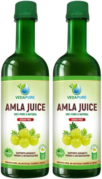 Vedapure Amla Juice , Pure & Natural | for Immunity and Health (500 ml X 2)