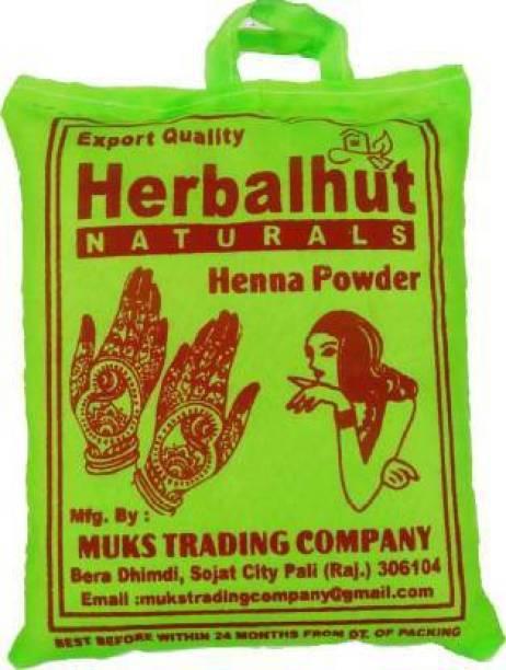 HERBALHUT NATURALS Henna for hair color mehandi powder Rajasthani henna 500g , red
