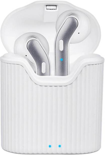 PTron Basspods 481 Bluetooth Headset (white, Silver, True Wireless) Bluetooth Headset