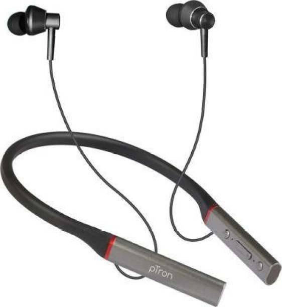 PTron InTunes Classic Bluetooth Headset (Black, Grey, In the Ear) Bluetooth Headset