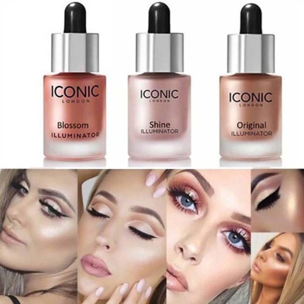 Viomy Iconic Illuminator Ultra Smooth Shine Waterproof Face And Body Highlighter 3D glow shine for medium to wheatish skin Highlighter( BLOSSOM + SHINE+ ORIGINAL) Highlighter