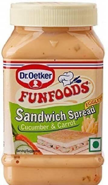 FUN FOODS Sandwich Spread Veg Cucumber & Carrot 250 Gram 250 g