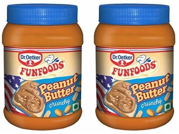 FUN FOODS Peanut Butter Crunchy 400 Gm Pack of 2 800 g