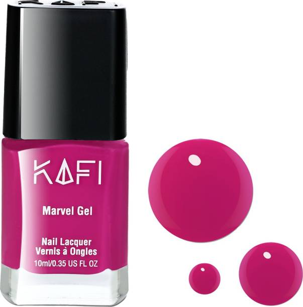KAFI Gel Nail Polish- Long lasting, Non Toxic, High Shine, Vegan, 10 Free Formula, SalonPro - (Magenta Pink) The Date Night.