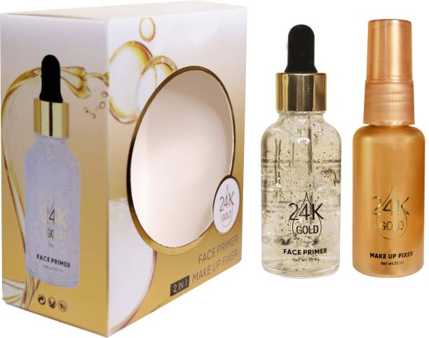Barebeauty 2 in 1 24 K Gold Primer and Makeup Setting Spray Primer - 65 ml (Transparent) Primer - 65 ml (Transparent) Primer - 65 ml (GOLD) Primer  - 65 ml