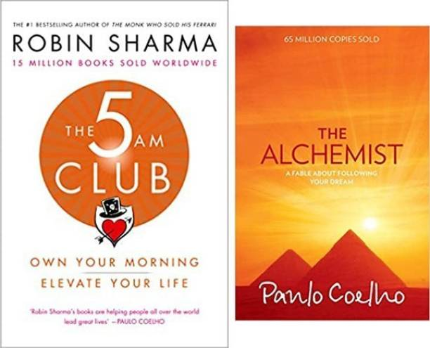 The 5 AM Club + The Alchemist (Sets Of 2 Books)