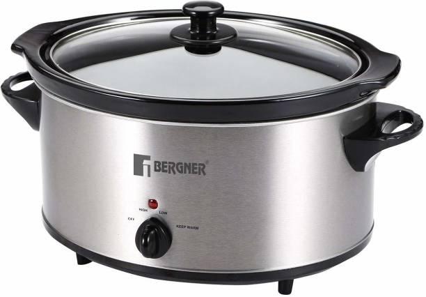 Bergner Elite Stainless Steel 320W with cookbook, Grey Slow Cooker