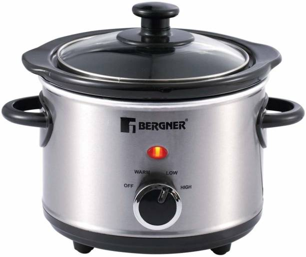 Bergner Stainless Steel Elite 120W with Cookbook Slow Cooker