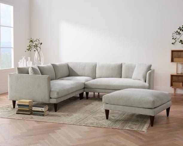 The Royal Nest CORNER SECTIONAL L SHAPE SOFA Fabric 5 Seater  Sofa