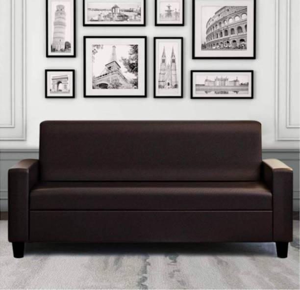 RM HOME Leatherette 3 Seater  Sofa