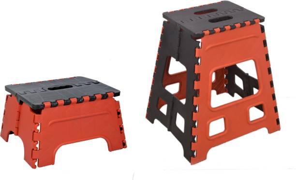 MAX 7 and 18 Inches Super Strong Folding Stool | Garden Stool | Portable Stool | COMBO PACK Stool