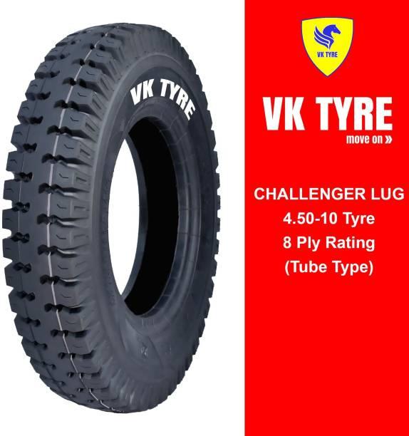 VK TYRE CHALLENGER LUG 4.50-10 3 Wheeler Tyre