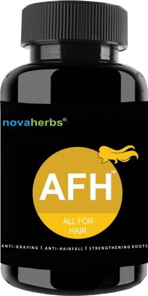 Novaherbs AFH - All For Hair - Hair Supplement with Multivitamins and Herbs - 60 Veg Tablets