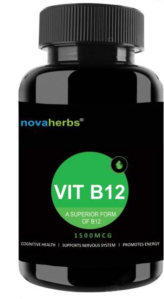 Novaherbs Vitamin B12 - 1500mcg - 60 Veg Tablets