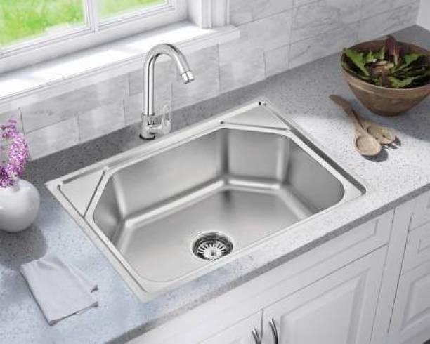 """Zesta (24""""X18""""X10"""") FULLY MATTE SINK Imported Garnet Series Machine Made, Chrome Finish Stainless Steel Kitchen Sink Vessel Sink"""